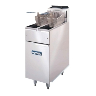 Imperial Twin Tank Twin Basket Gas Fryer