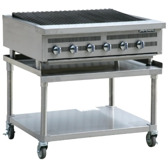 Imperial IRBS-36 Radiant 6 Burner Chargrill c/w Mobile Stand
