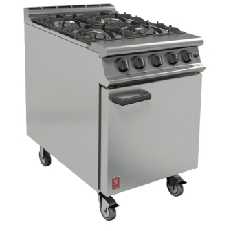 Falcon G3161 Four Burner Range on Castors