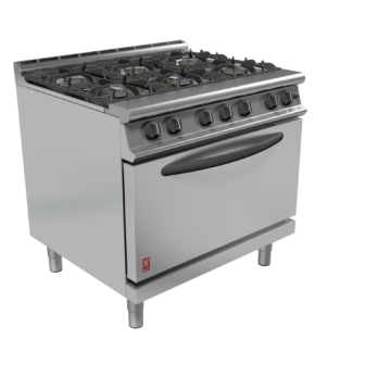 Falcon Dominator Plus 6 Burner Range G3101D with Feet