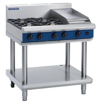 Blue Seal Evolution G516C-LS Gas Cooktop 4 Open/1 Griddle Burner on Stand