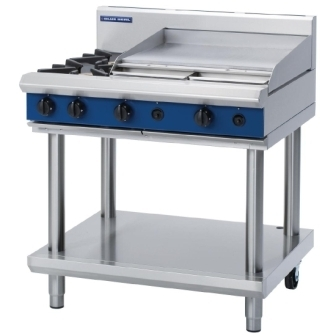 Blue Seal Evolution G516B-LS Gas Cooktop 2 Open/1 Griddle Burner on Stand