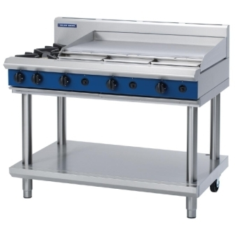 Blue Seal Evolution G518A/LS Gas Cooktop 2 Open/1 Griddle Burner on Stand