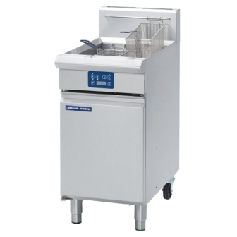 Blue Seal Evolution GT45E Gas Vee Ray Single Tank Fryer with Electric Controls - 450mm