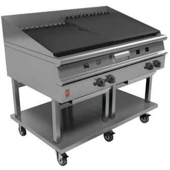 Falcon G31225 Dominator Plus Gas 1200mm Wide Chargrill on Mobile Stand