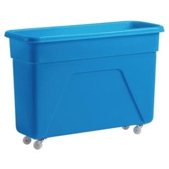 Blue Polyethylene Trolley - 41x18x24.5""