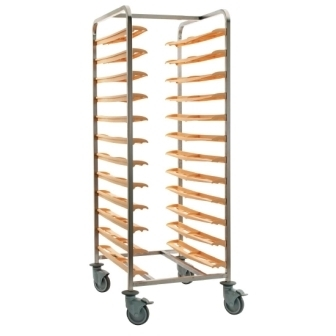 Bourgeat Cafeteria self clearing Trolley [back to back for 24 trays
