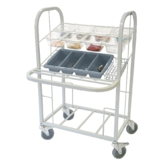 Craven Condiment/Cutlery & Tray Dispense Trolley - 791x770x1194mm