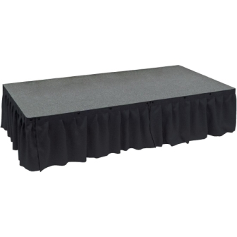 Valance 1m x 230mm deep Black for Ultralight Staging