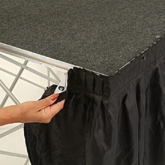 Valance 1m x 630mm deep Black for Ultralight Staging