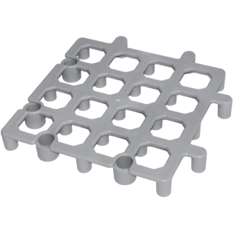 Vogue Polypropylene Dunnage Floor Rack - 335x335mm - Grey [pk 2]
