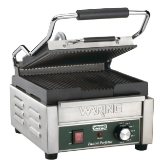 Waring Panini Grill Single PG150K (Ribbed Upper & Lower Plates)