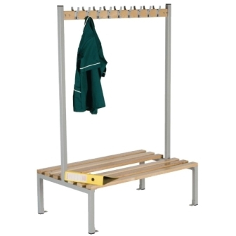 Double Sided Coat Hanger Bench - 1200mm