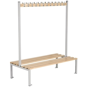 Double Sided Coat Hanger Bench - 1500mm