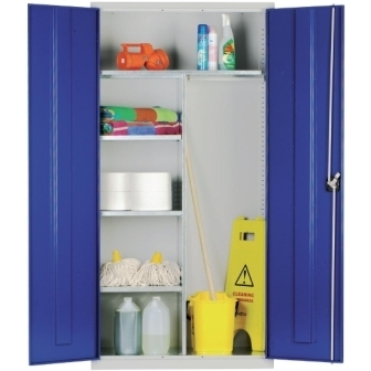 Janitorial Cupboard with Blue doors