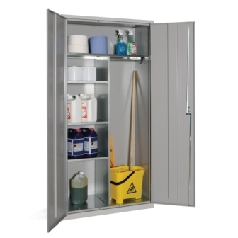 Janitorial Cupboard with Grey doors