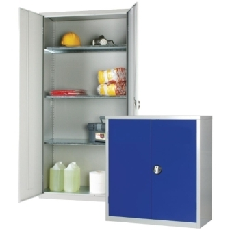 Standard Cupboard with Grey doors & 3 shelves