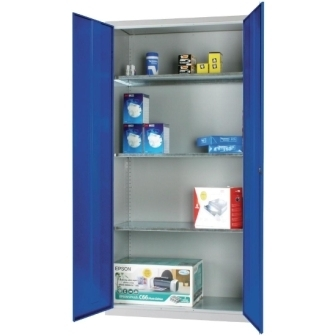 Standard Cupboard with Blue doors & 3 shelves