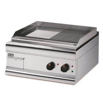 Lincat GS6/TR/E Half-Ribbed Electric Griddle Dual Zone 600mm Wide