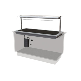 Designline HP4 Ceran Glass Hotplate Self Service - 1525mm (L)
