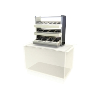 Kubus Ambient Cutlery/Condiment Unit Self Service - 800mm (L)
