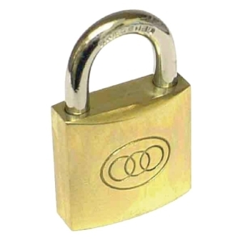 Tri-circle 38mm Brass Padlock
