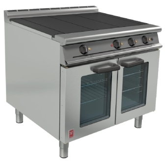 Falcon E3101 Electric 3 Plate Range on Legs