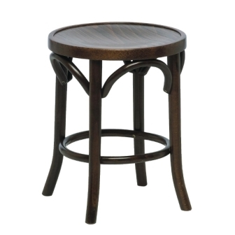 Bolero Bentwood Pub Low Stool - Walnut (Pack of 2)