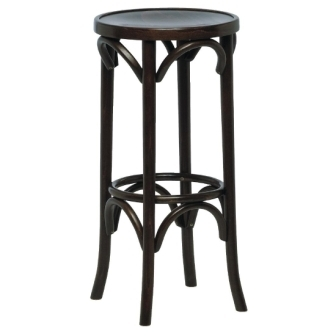 Bolero Bentwood Pub High Stool -Walnut  (Pack of 2)
