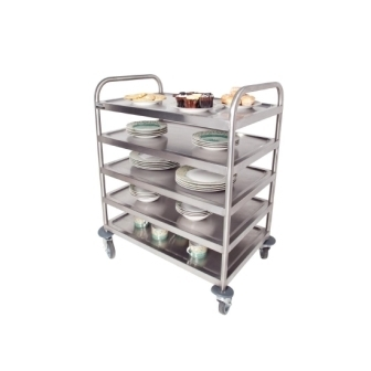 Craven 5 Level General Purpose Trolley with braked castors