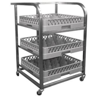 Craven St/St Glass Tray Trolley