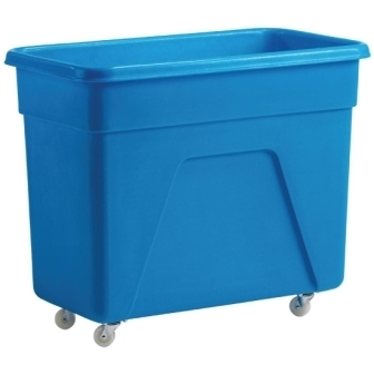 Blue Polyethylene Trolley - 609x475x812mm