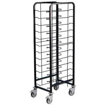 EAIS Powder Coated Enamel Clearing Trolley - 12 Tray Capacity