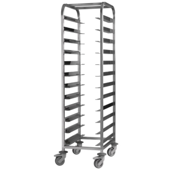 EAIS St/St Clearing Trolley - 12 Tray