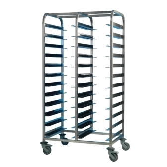 EAIS St/St Clearing Trolley - 24 Tray