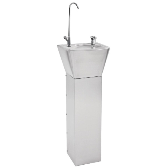 Franke Sissons Pedestal Drinking Fountain - 312 x 258 x 840mm