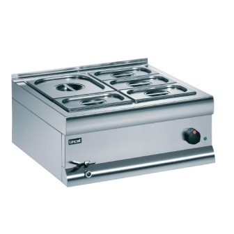 Lincat BM4AW Bain Marie  - 2x 1/2GN Containers (Wet Heat)