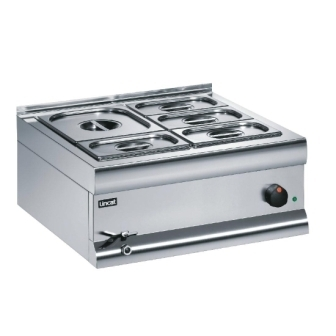 Lincat BM6AW Bain Marie - 1x 1/2GN & 4x 1/3GN Containers (Wet Heat)