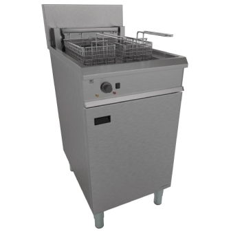 Falcon Chieftain E1838 Electric Twin Basket, Single Pan Fryer