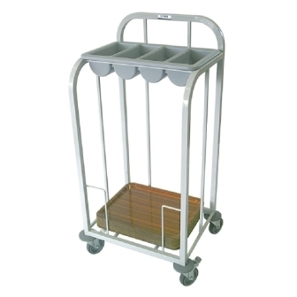 Craven Single Tier Cutlery & Tray Dispense Trolley