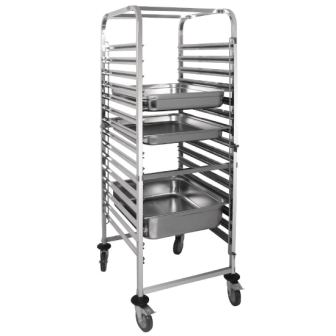 Vogue Gastronorm Racking Trolley - 15 Level