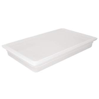 Vogue Polypropylene GN Pan 1/1 with Lid 100mm (H) 13Ltr (Pack 2)
