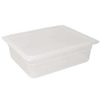 Vogue Polypropylene GN Pan 1/2 with Lid 150mm (H) 8.9Ltr (Pack 4)