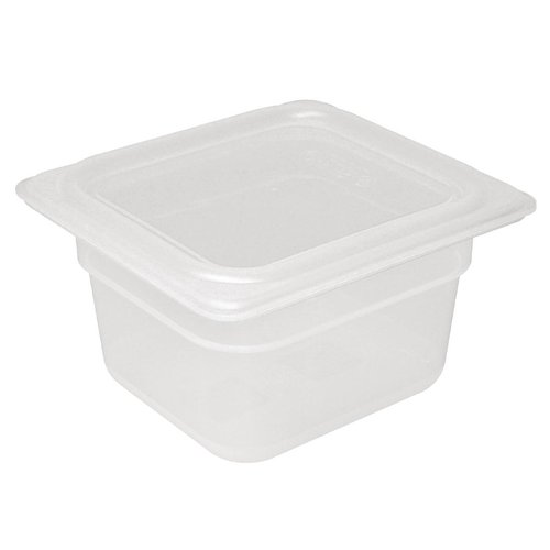 Vogue Polypropylene GN Pan 1/6 with Lid 150mm (H) 2.2Ltr (Pack 4)