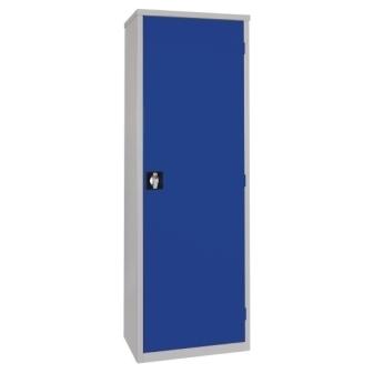 Blue Door Janitorial Cupboard - Slimline Single Door