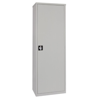 Grey Door Janitorial Cupboard - Slimline Single Door