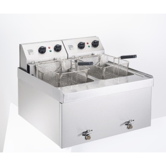 Parry NPDF3 Double Table Top Fryer - 2 x 9Ltr
