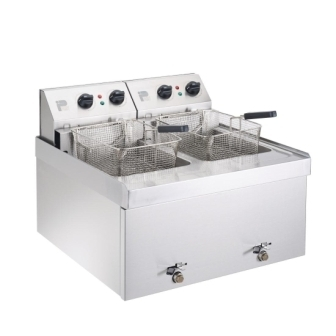 Parry NPDF6 Double Table Top Fryer - 2 x 9Ltr