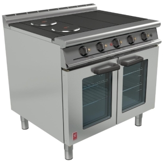 Falcon E3101OT Dominator Plus 4 Hotplate Electric Oven Range with Fan-Assisted Oven