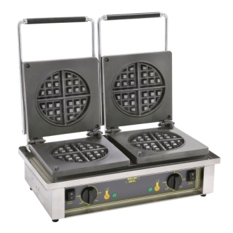 Roller Grill GED75 Double Round Waffle Maker